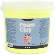 Foam Clay®, geel, glitter, 560gr
