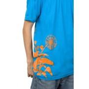 e.5.Charlie D'Lions Custom Printed T Shirt Blue