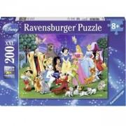 Пъзел Ravensburger 200 елемента, Любимите герои на Дисни, 708401