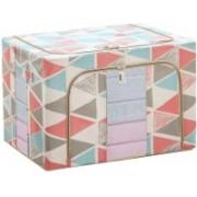 Divinext Cloth Storage bag Living Box, Large Capacity Clothes Storage Bag, Wardrobe Organizer, 55L , White Cloth Storage bag(Multicolor)