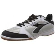 Diadora Men's 830 ID White, Black and Silver Mesh Squash Shoes - 8 UK