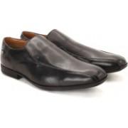 Clarks Derry Step GTX Black Leather Slip on For Men(Black)