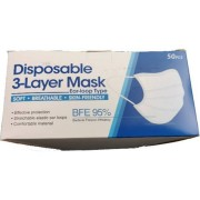 Egyszer használatos 3 rétegű maszk - 50db - 1 doboz