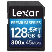 Lexar 128GB SDXC 300x Premium II C10 Svart
