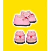 "Pink Sandals Clothes Fits 12"" Snugglems, 8"" 10"" Stuffed Animal Kits & Most Webkinz & Shining Star Animals"