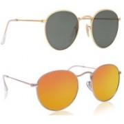 Phenomenal Oval Sunglasses(Black, Yellow)