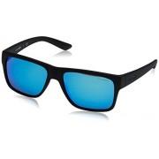 Arnette AN4226 Reserve anteojos de sol cuadradas para hombre (57 mm), color negro mate y verde