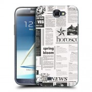Husa Samsung Galaxy Note 2 N7100 Silicon Gel Tpu Model Newspaper