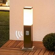 Lampenwelt.com luminaire pour socle en inox Lorian avec détecteur - LAMPENWELT.com