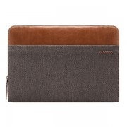 Incase Pathway Folio CL60110 Sleeve - качествен калъф за MacBook Pro Touch Bar 13, MacBook Air 13 и лаптопи до 13.3 инча (сив-кафяв)