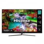 Телевизор Hisense U8QF, 55 инча 4K Ultra HD (3840x2160), ULED, Quantum Dot, 4K HDR 10+, Dolby Atmos, DVB-T2/C/S2, 55U8QF
