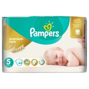 Пелени Pampers Premium Care No 5 Junior 11-18 kg 44 бр