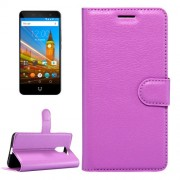 For Wileyfox Swift 2 & Wileyfox Swift 2 Plus (5.0) Litchi Texture Horizontal Flip Leather Case with Magnetic Buckle & Holder & Card Slots & Wallet (Purple)