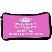 Snoogg Keep Calm Princess Poly Canvas Student Pen Pencil Case Coin Purse Utility Pouch Cosmetic Makeup Bag