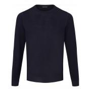 Louis Sayn Rundhals-Pullover aus 100% Schurwolle Merino Louis Sayn blau