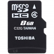 Card Toshiba microSDHC 8GB M102 Clasa 4 cu adaptor SD