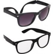 Criba Wayfarer Sunglasses(Grey, Clear)