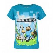 Tricou Minecraft ORIGINAL licenta Mojang Blue