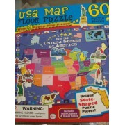Usa Map Floor Puzzle (With 9 Pop Up Play Pieces) By Lpf