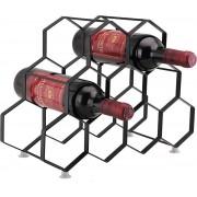 9 flessen wijnrek standaard – vrijstaande wijnflessenhouders – Eigentijds uniek Design geen montage nodig