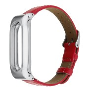 Replacement Leather Watch Bracelet Band Wrist Strap for Xiaomi Mi Band 2