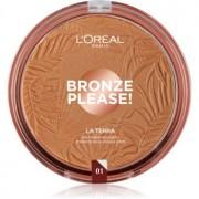 L'Oréal Paris Wake Up & Glow La Terra Bronze Please! polvos bronceadores y contorno tono 01 Portofino Leger 18 g