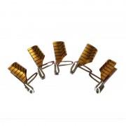 Sabloane Refolosibile Gold pentru Unghii - Set 5 bucati