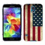 Husa Samsung Galaxy S5 Mini G800F Silicon Gel Tpu Model USA Flag