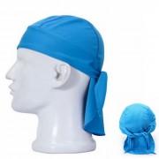 Qinglonglin hombre elegante de secado rapido tejido ciclismo sombrero - azul
