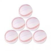 HMANE 2.8inch Baseballs Kids Foaming Elastic Pressure Soft Ball PU Student Foam Baseball Toy for Softball Baseball - Size 2.8Inch