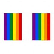 Geen Gay parade regenboog slingers 72 m