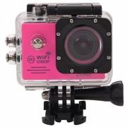 SJ7000 Full HD 1080P écran LCD 2,0 pouces Novatek 96655 Caméra caméscope sport WiFi avec étui étanche, objectif grand angle HD de 170 degrés, 30 m imperméable (magenta)