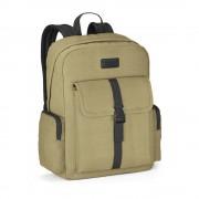 Rucsac Laptop 15.6 inch, Everestus, AE, panza bumbac prespalat, galben, saculet de calatorie si eticheta bagaj incluse