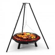 Blumfeldt Arco Trino hänggrill eldstad BBQ trebensställning rostfritt stål