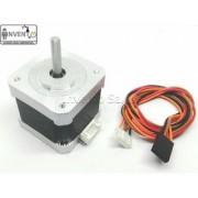 Invento 2pcs Nema 17 4.2 Kg-cm Bipolar Stepper Motor + Flat Plate Bracket Mount + Vibration Damper for CNC Robotics DIY