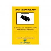 Cartel Zona Videovigilada A5 Aluminio