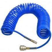 Furtun pneumatic spiralat cuplare rapida PU 5x8mm 10m GEKO G02966