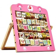 Shopholic Creative Learning Wooden Alphabet Abacus Teaching Frame Educational Toy For Kids With 360 Rote Letters & Cognitive Letters