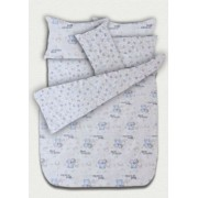 Бебешки к-т с олекотена завивка - Мечета синьо