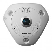 Camera supraveghere Dome IP Hikvision DS-2CD6362F-IVS Fisheye, 6 MP, IR 15 m, 1.27 mm