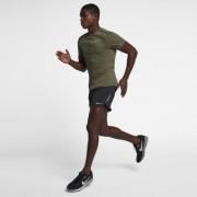 Nike Tailwind Kurzarm-Laufoberteil für Herren - Olive