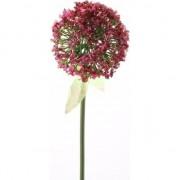 Geen Kunstbloem Sierui/Allium roze/rood 70 cm