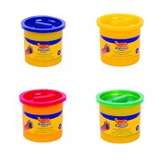 Jovi Blandiver Soft Dough Value Pack of 4 jars of 110 gms each (Standard colors) - Yellow, Red, Green and Blue