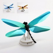 Assembli Anisoptera Dragonfly 3D insect-Azure Blue