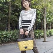 PLY キルティング バイカラートート M【QVC】40代・50代レディースファッション