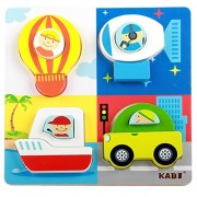 Kidsbele Kids Wooden Pattern Puzzle Toys Learning Shape Color Baby Educational Building Block Jouet Games Picture Car Jigsaw Puzzles Toys