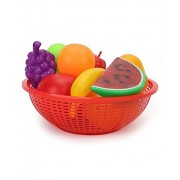 Ratna's Premium Quality Fruit set Basket (MULTICOLOUR) for kids 12 pieces. Let your child learn about different fruits and recognise them.