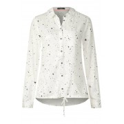 Luchtige sterrenblouse - pure off white
