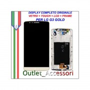 Display LG G3 Optimus D855 GOLD ORO Vetro Touch Lcd Frame Schermo Originale