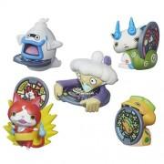 Set Of 5: Yo Kai Watch Medal Moments Wave 1 Jibanyan, Whisper, Komasan, Noko & Tattletell